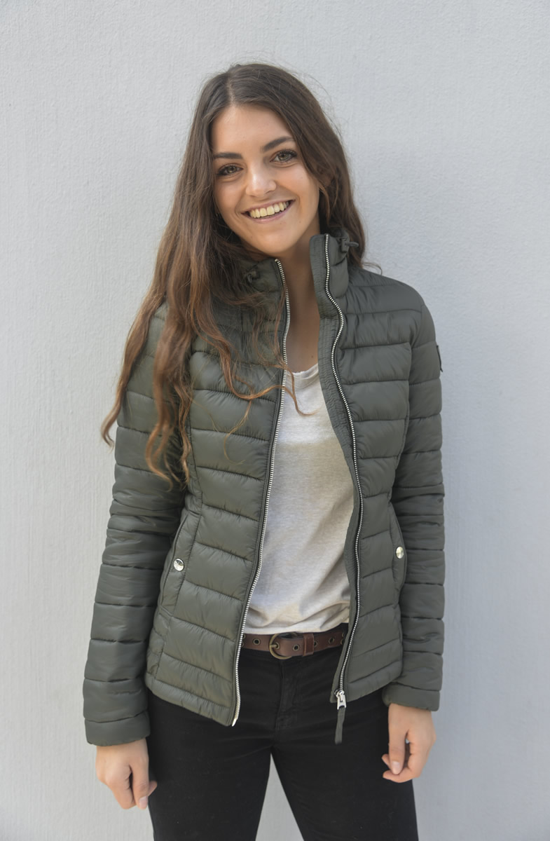Gorgeous Green Short puffer Jackets Without Hood - » StoreFront