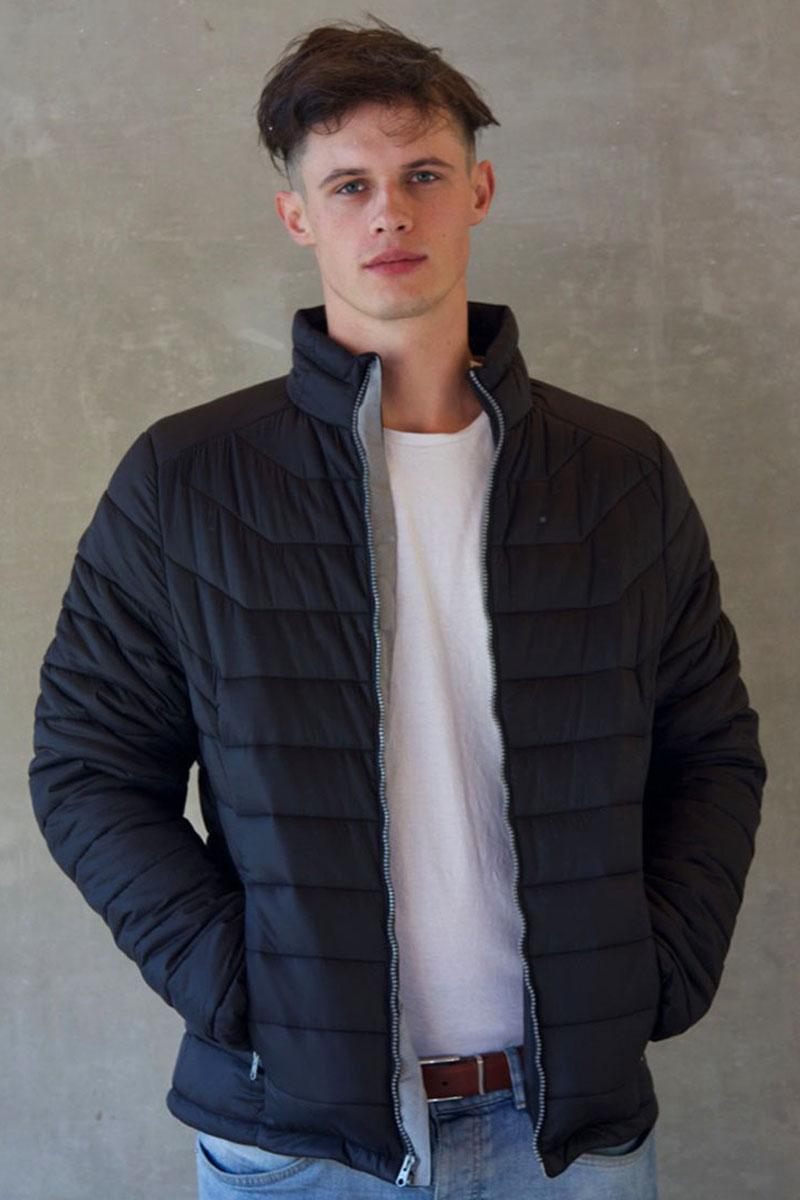 4d4c08095c0c Mens Dark Charcoal Black Short Puffer Jacket Without Hood » GiLo Lifestyle
